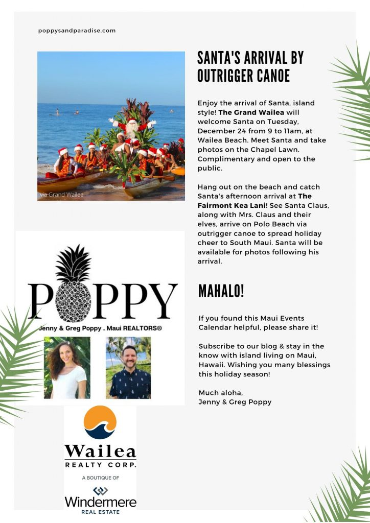 Maui Events Dec 2019