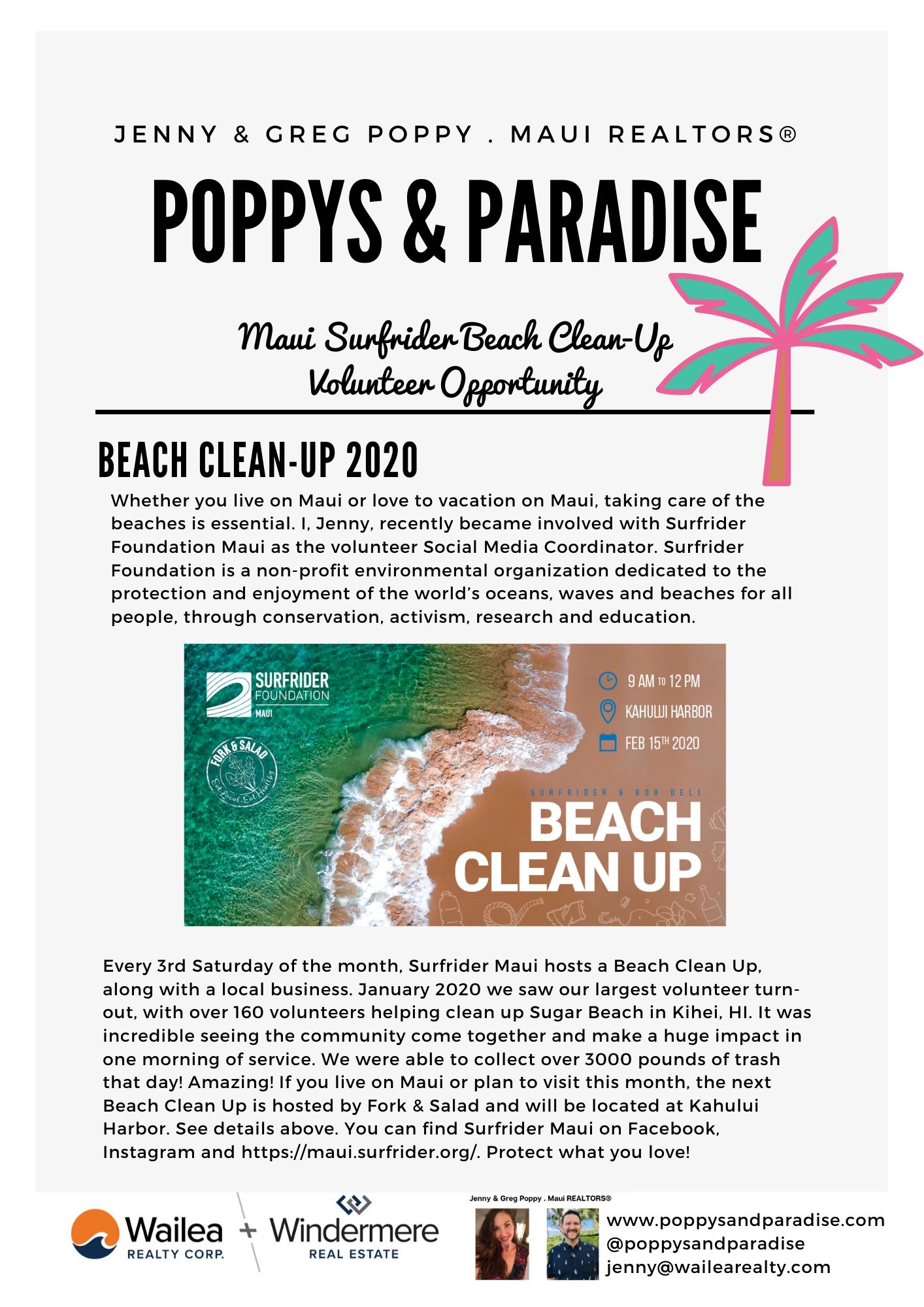 Maui Volunteer Beach Clean Up